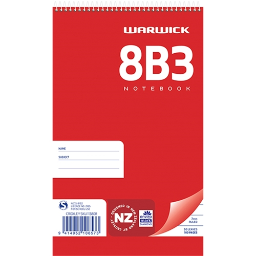 8B3 Top Opening Pad 50lf, Pack of 10