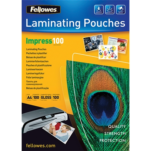 A4 100 MICRON LAMINATING POUCH