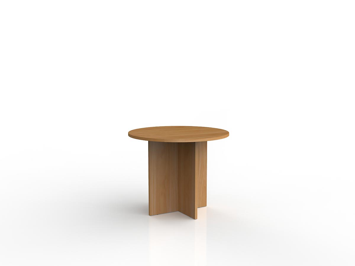 Ergoplan Round Meeting Table - Tawa