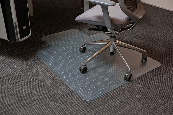 CoverZone Chairmat Keyhole PVC 1140x1350MM Hardfloor
